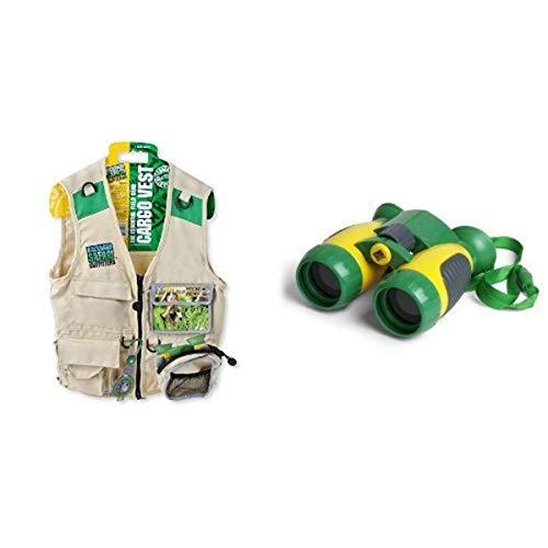 Backyard Safari Field Gear Essentials (Includes Cargo Vest and Binoculars)