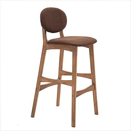 Silla de Bar, taburetes Altos Taburetes de Bar Creative Cafe Chair Respaldo nórdico Silla de Madera Maciza