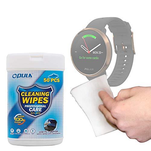 DURAGADGET Toallitas Compatible con Smartwatch Suunto Spartan Sport Wrist HR, Suunto 9 Baro, Polar Ignite, Montblanc Summit 2 - Ideales para Limpiar Su Dispositivo
