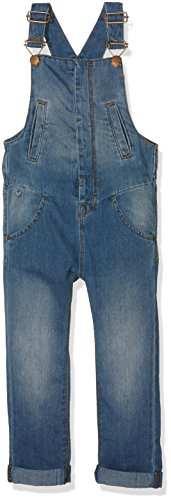 NAME IT Mädchen NITBALMA REG/SLIM DNM OVERALL MZ GER Latzhose, Blau (Medium Blue Denim), 92
