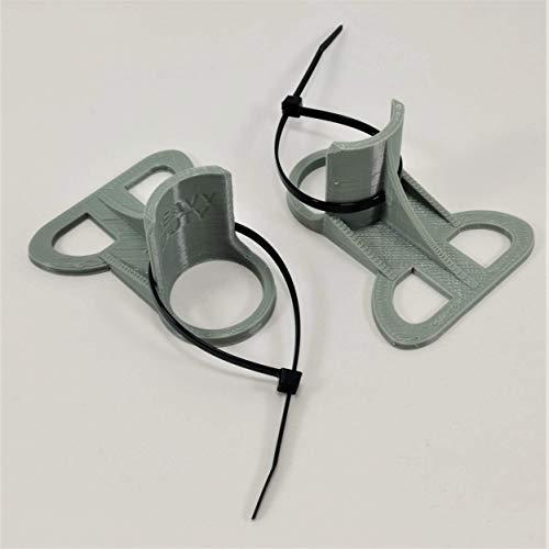 2 Supports pour tuyaux de Piscine (2020): Gris pour tuyaux de 30 mm à 37 mm conçus pour s'adapter aux piscines INTEX.