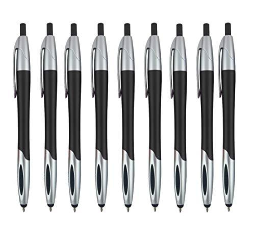 Stylus with Ball Point Pen for iPad Mini, iPad 2/3, new iPad, iPhone 5 4S 4 3GS, iPod Touch, Motorola Xoom, Xyboard, Droid, Samsung Galaxy S IV / S4, Galaxy S III/S3 (12 Pack) Black