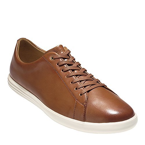 Cole Haan Men's Grand Crosscourt II Sneaker, tan leather burnished, 12 Medium US