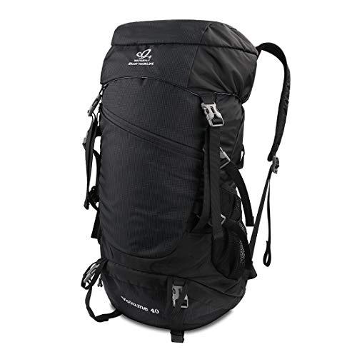 WATERFLY Wanderrucksack 40L, Trekkingrucksack Faltbarer Wasserdichter Daypack Ultraleicht für Outdoor Wandern Camping Reisen Damen Herren