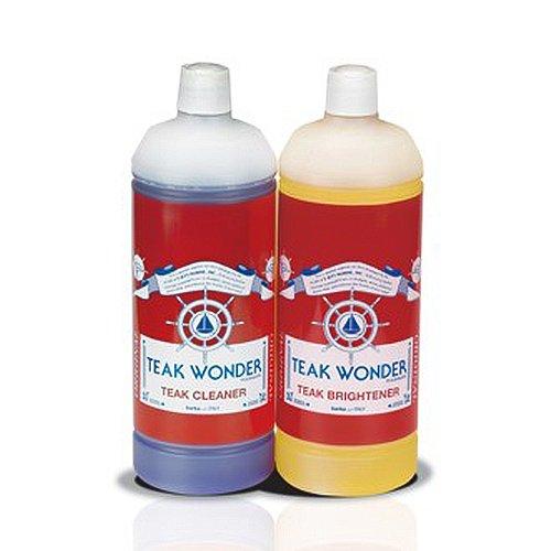 Waschmittel und Whitening Teak Wonder 2Dosen Reiniger für Boote 0,95l