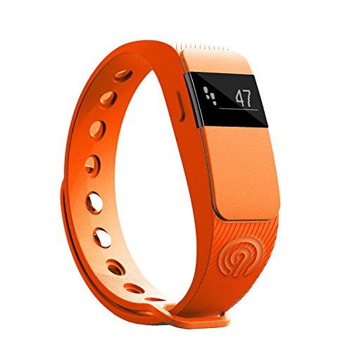 NINETEC Smartfit F2 Orange Fitness Tracker Bluetooth 4.0 Sport Armband Schrittzähler Aktivitätsarmband Fitnessarmband Sportuhr mit Schlafanalyse Kalorienanalyse SMS Anrufe