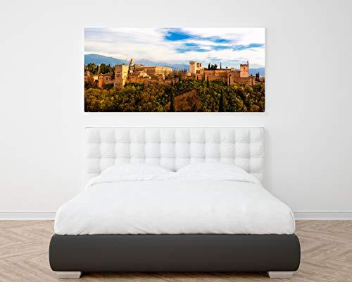 Wayshop | Cuadro XXL PVC 5 mm | Cuadro Gran Formato Alhambra de Granada | Ideal Dormitorios | Medidas Cama | Diseño Elegante | Medidas 150 cm x 60 cm