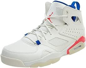 Jordan Mens Flight Club `91 Hight Top Lace Up Basketball Shoes, White, Size 9.0