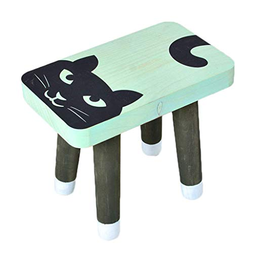 LUNAH Cute Baby Child Small Bench Solid Wood Stool Home Shoe Stool Creative Low Stool Cartoon Shoe Stool Kindergarten Game Stool Garden Picnic Stool (Color : A)