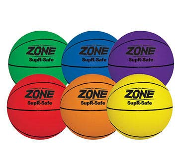 New Palos Sports, Inc. The Zone SupR-Safe Mini Youth Basketballs 7 - Set of 6