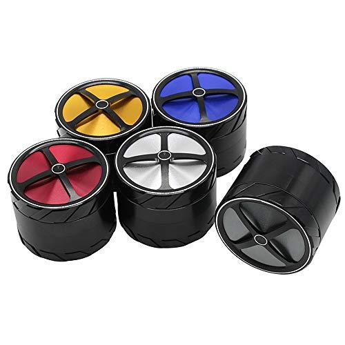 TongBao Nuevo diseño de aleación de Aluminio en Forma de neumático Cruzado 63mm Color de Costura Caja de molienda de Metal de 4 Capas Amoladora de Hierbas 10 Paquetes
