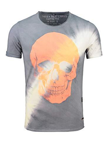 KEY LARGO Herren T-Shirt Mt Bingo Round Silber (12) L