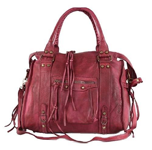 BZNA Bag Simona bordeaux Italy Designer Damen Ledertasche Handtasche Schultertasche Tasche Leder Beutel Neu