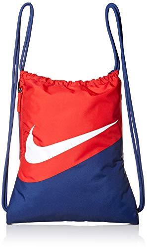 NIKE Heritage Gym Sack - 2.0 Gfx, Blue Void/University Red/White, Misc