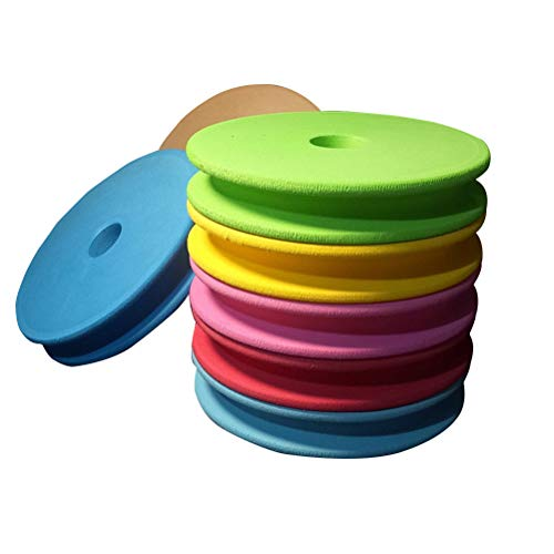 LIOOBO 10PCS 3.95 Inch Large Size Fishing and Rigging Foam Spools Sponge Combo for Line Leader Organizer Storage Accessories (Random Color)