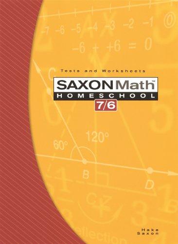 Saxon Math 7 6 Homeschool Edition Tests And Worksheets Reproducible