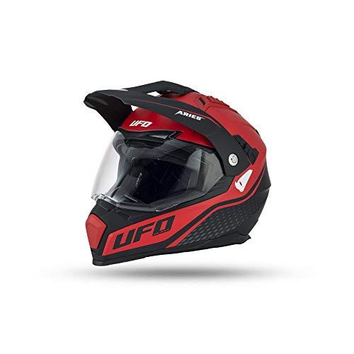 801001480167var-sfp - Casco Enduro Offroad Motocross Aries Mate Color Negro/Rojo Talla M