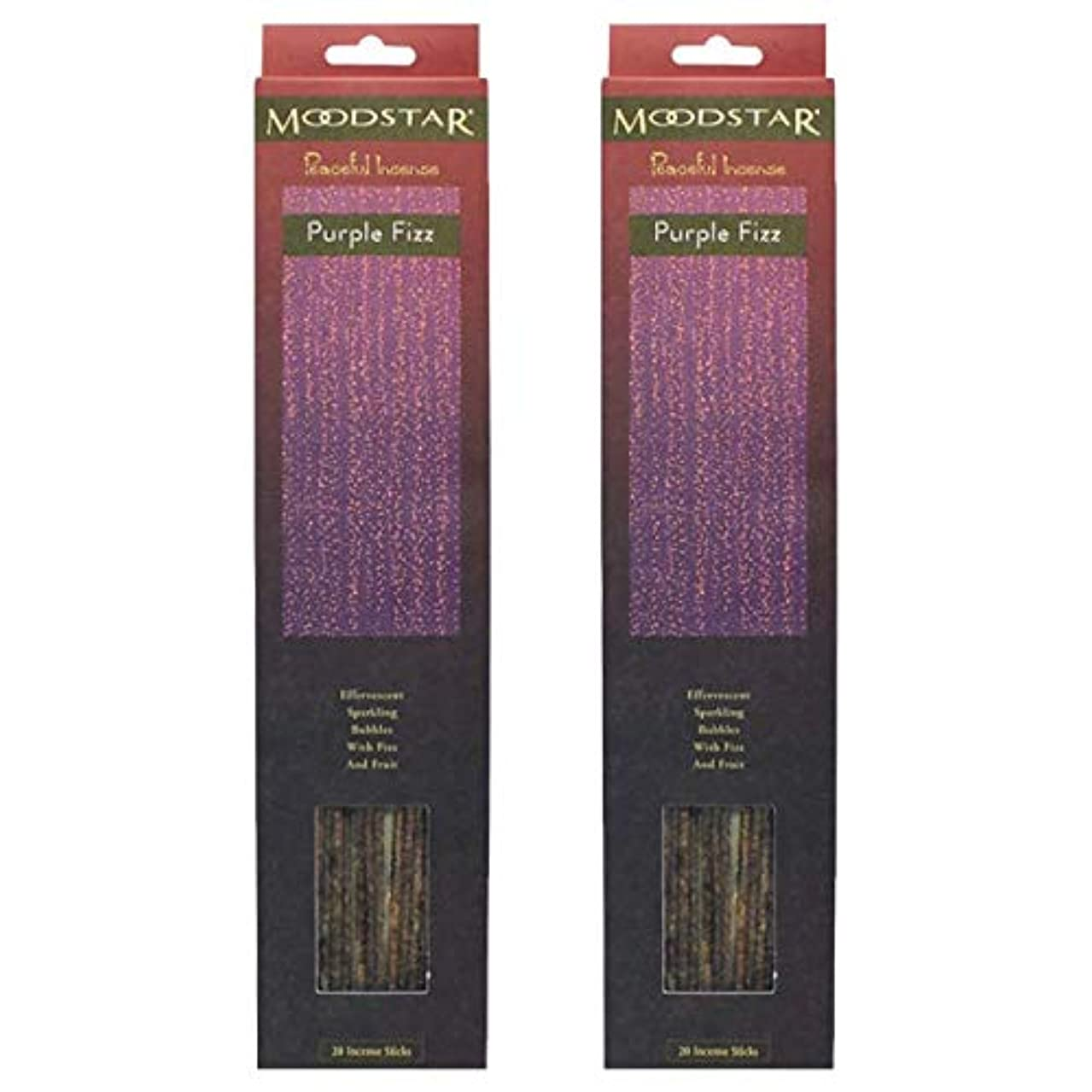 おしゃれじゃない興奮浅いMOODSTAR ムードスター Purple Fizz お香 20本×2パック(40本)