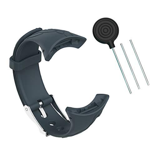 kesoto Cinturini Di Ricambio In Silicone Morbido Compatibili Con SUUNTO M1 / M2 / M5 - blu verde, 20x1.5cm