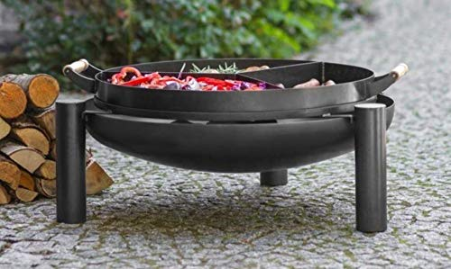BlackOrange Recipiente para hoguera (diámetro de 80 cm, con parrilla Chamber, diámetro de 70 cm)