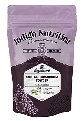 Shiitake Mushroom Powder - 100g (Quality Assured) from Indigo Herbs