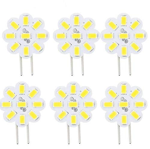 Best to Buy (6-PACK) Dimmable 2.4Watt T4 GY6.35 DISC puck LED 9SMD 5730LED, White,5000K, (Jc10 Bi-pin 14-17W Replacement) for RV Campers, Trailers, Boats, and Under-cabinet Light ...