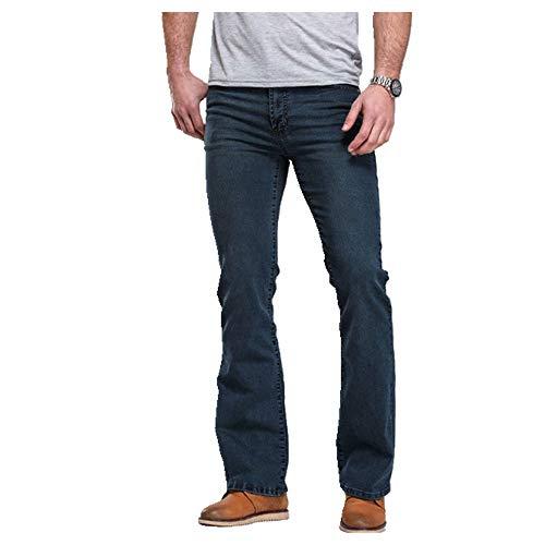 Pantalones vaqueros de corte para hombre ligeramente acampanados slim ropa clásica ocio cómodo estiramiento pantalones de mezclilla