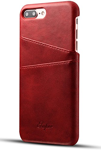 iPhone 8 Plus Card Case, iPhone 7 Plus Case, XRPow Wallet Phone Case Leather Slim Back Case Cover Slim Leather Back Case With Credit Card Holder