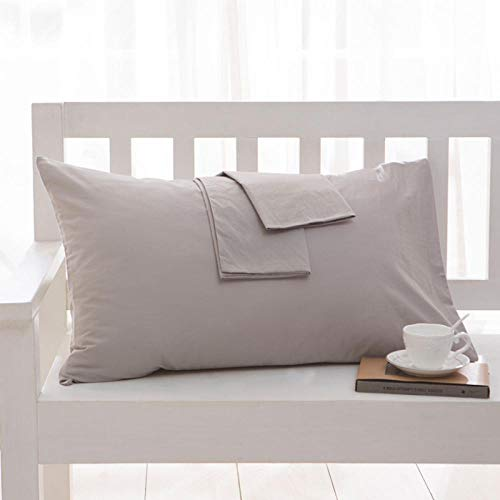 HNLHLY Funda de Almohada de algodón Funda de Almohada de Color Puro Ropa de Cama Múltiples tamaños Disponibles, 1pcs-H_47x120cm
