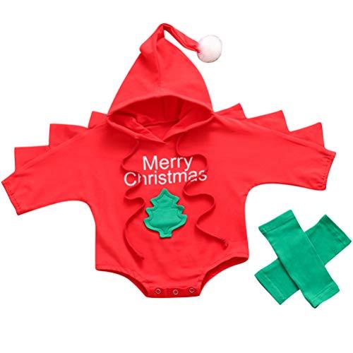 SOIMISS Traje de Árbol de Navidad para Bebé Mono de Mameluco de...