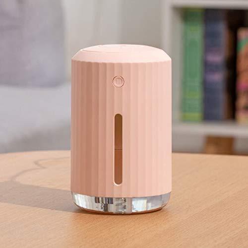 YuShiLiu neblina Humidificador de Aire Difusor de aromaterapia USB con lámpara LED Ultrasonic Fresca Niebla humificador para maquillador de la Niebla del Coche de Oficina (Color : Pink)