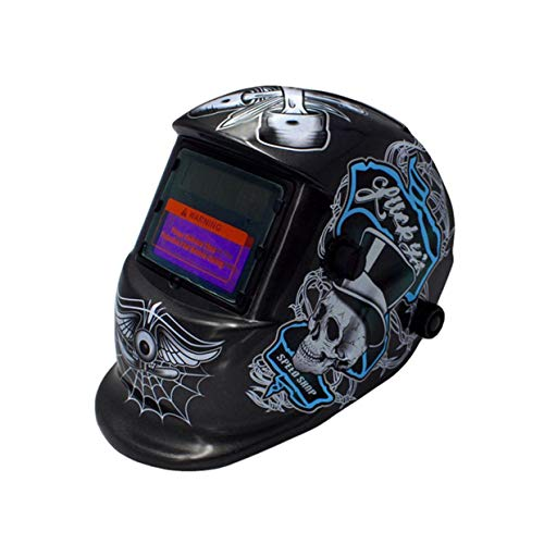 MXECO automática variable fotoeléctrico máscara de soldadura al arco de argón pantalla de soldadura de protección del trabajo protectora Soldador Soldar (Piratas negros)