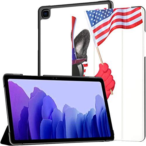American Selfie French Bulldog prenant Selfie Galaxy Tab A Coques Galaxy Tab A7 10,4 Pouces Galaxy Tab A7 10,4 Etui pour Tablette avec réveil Automatique/Sommeil Fit Étuis pour t