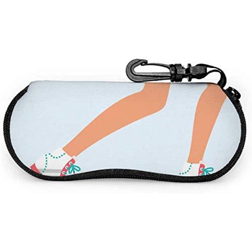 Mei-shop Calzado deportivo Zapatillas de skate Bolsa de gafas de sol Funda...