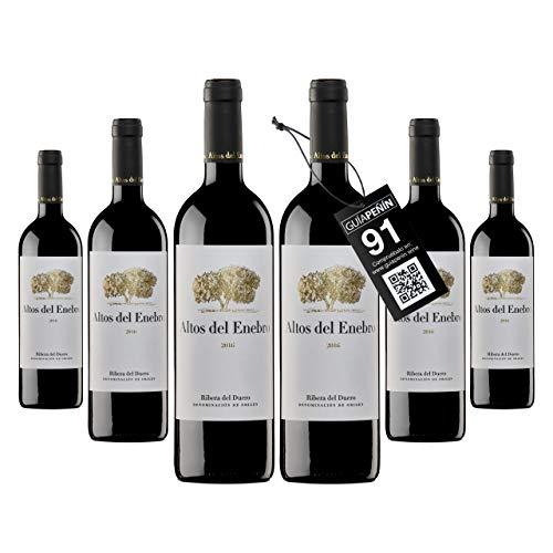 Bodegas Altos del Enebro - D.O. Ribera del Duero - Vino Altos del Enebro (crianza 15 meses en barrica) - Caja de 6 botellas de 750 ml