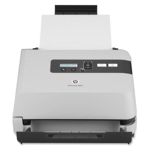 HP SJ5000 Sheet-Feed Shredder-Scanner,Scans 1500 P/ Day,600 dpi,50 Sheet Auto Feeder,Gray