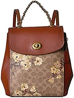 COACH Women's Prairie Coated Canvas Signature Parker Backpack