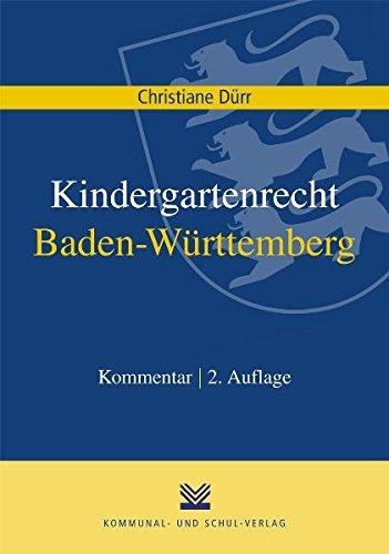 Kindergartenrecht Baden-Württemberg: Kommentar