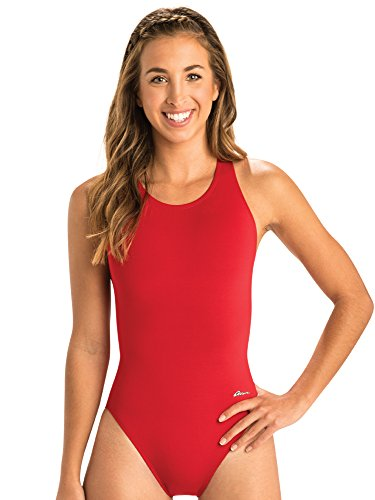 Dolfin Ocean Women's Swimwear Solid Performance Back Swimsuit(26, Red)