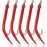 Farbe Fluo Red Makrelenvorfach 4 Haken Kinetic Makrelenpatanoster
