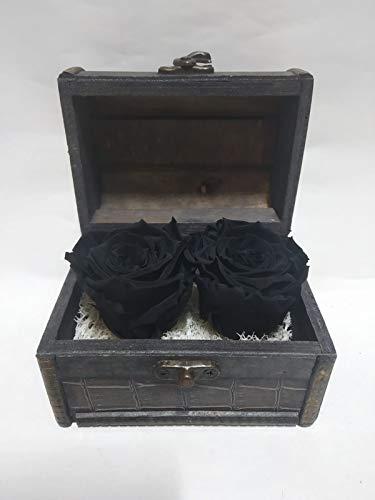 Ewige schwarze Rosen. Hergestellt in Spanien.