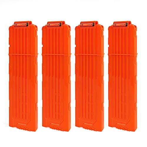 FUCAS Soft Bullet 4pcs Clips 18 Bullets Dart Gun Clips Magazine Clip for Nerf Toy Dart Gun