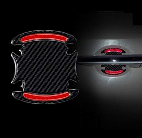 TRUE LINE Automotive Carbon Fiber Inner Door Handle Scratch Protector Reflective...