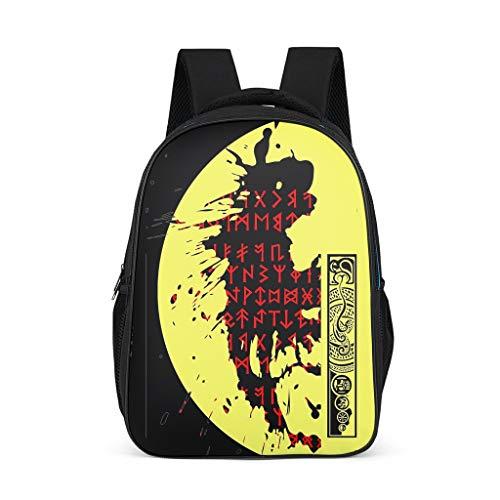Wikinger-Spiegel Süße Rucksack Schultasche für Mädchen Jungen Trekking Kreative Reisetasche Mit Muster Schulranzen