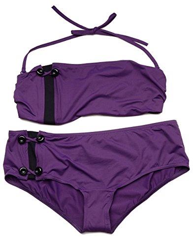 Huit Strapless Underwire Bikini Set 34-308 (34D/M, Blueberry)