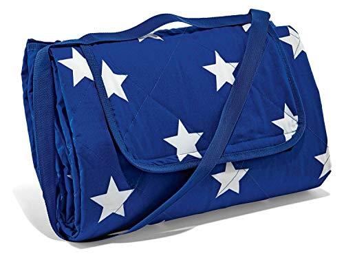 Crivit XXL Picknickdecke 200 x 200cm mit isolierender und schmutzabweisender Unterseite Sterne