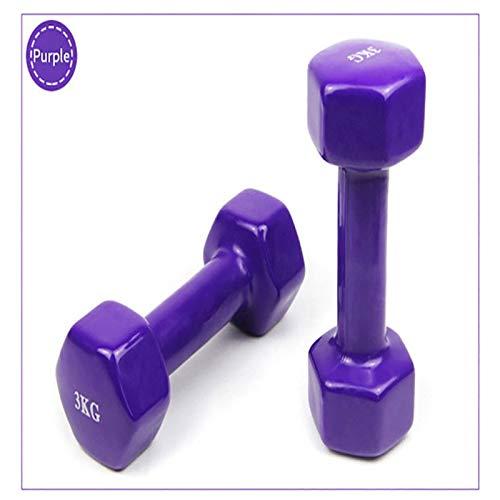 Weizy Mancuerna Pequeña for Yoga De Color, Brazo Delgado for Niños, Mancuerna Fina, Brazo Dedicado Cómodo Y Portátil De 1 A 9 Kg Opcional (Color : Smooth Purple 1kg)