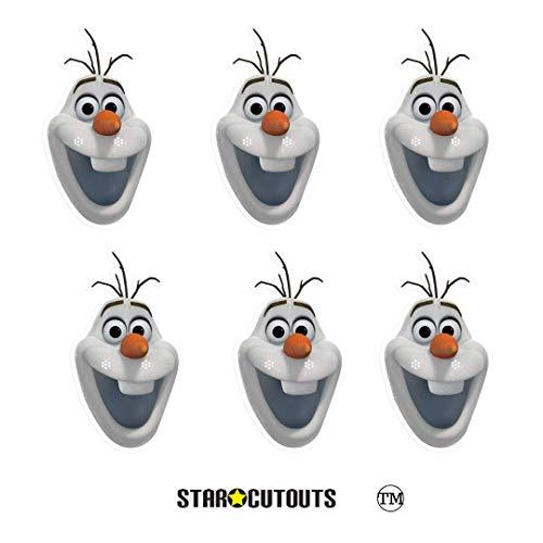 Star Cutouts SMP404 Offizielle Olaf Schneemann-Masken, perfekt für Fans, Frozen Partytüten und Dekorationen, mehrfarbig