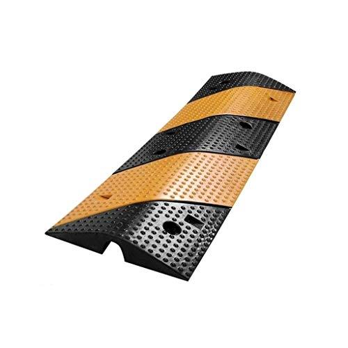 Topes de velocidad de entrada a la escuela, rampas de goma antideslizantes para vehículos Rampas de desaceleración duraderas firmes Fácil de instalar Tamaño: 100 * 30 * 4.8CM Rampas (Tamaño: 100 * 30