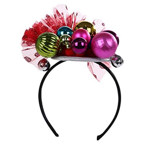 Lurrose Di Natale Cerchi Dei Palla Di Natale Della Fascia Della Novità Di Natale Cappelli Di Natale Divertente Costume Hairband per Natale Favorisce I Regali